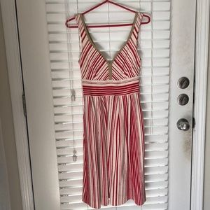"""""""Anthropologie"""" Red & White Stripped Dress"""